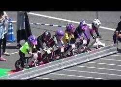 Enlace a Así es una carrera de niños con bicis sin pedales