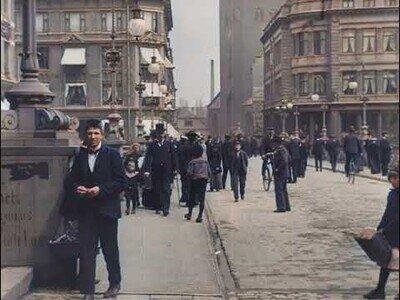 Imágenes restauradas en color de las calles de Dinamarca en 1902