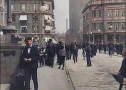 Enlace a Imágenes restauradas en color de las calles de Dinamarca en 1902
