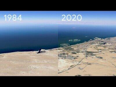 Google Earth no enseña el cambio que han sufrido las ciudades del planeta los últimos 35 años