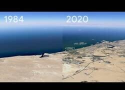 Enlace a Google Earth no enseña el cambio que han sufrido las ciudades del planeta los últimos 35 años