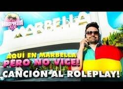 Enlace a Cuando no te invitan, pero le haces una canción parodia a Marbella Vice