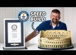 Enlace a El Coliseo de Lego más rápido en construirse