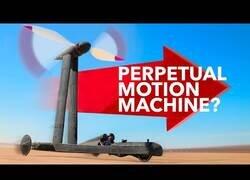 Enlace a Probando un vehículo movido completamente por el viento