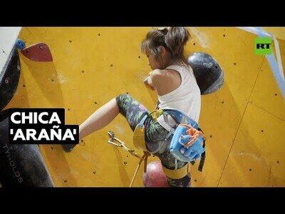 'La niña-araña' que es capaz de escalar 12 metros en 11 segundos