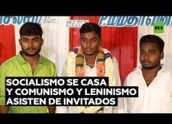 Enlace a Socialismo se casa y Leninismo y Comunismo asisten a la boda
