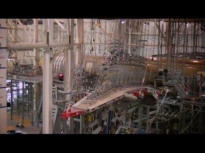 Así se pone a prueba la flexibilidad del ala de un avión