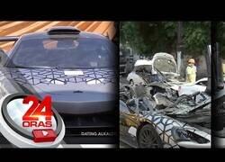 Enlace a Filipinas destruye coches de lujo para luchar contra la importación ilegal de éstos