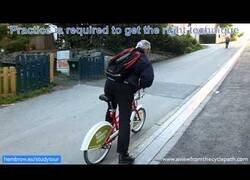 Enlace a El 'ascensor' para que ciclistas puedan subir pendientes pronunciadas