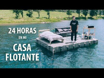 24 horas flotado en mitad de un lago