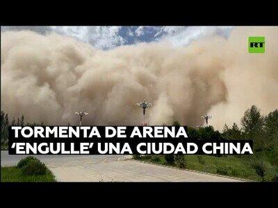 Tormenta de arena engulle una ciudad china
