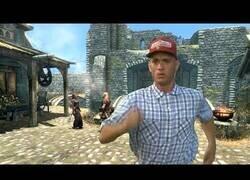 Enlace a Si Forrest Gump viviera en el mundo de Skyrim