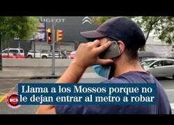 Enlace a Un carterista llama a la policía porque no le dejan entrar en el metro