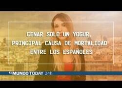 Enlace a Cenar solo un yogur, principal causa de muerte en España