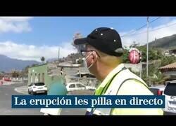 Enlace a El volcán de La Palma erupciona en plena conexión en directo