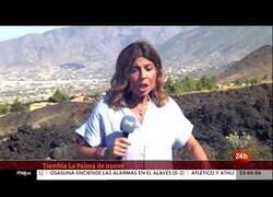 Enlace a El susto de una reportera por los temblores previos a la erupción del volcán de Palma