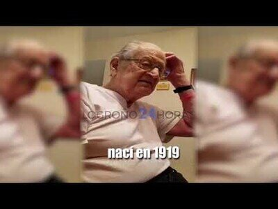 La reacción de este anciano al conocer su edad