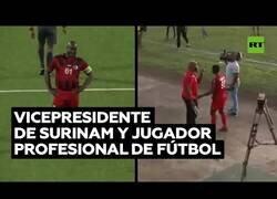 Enlace a El vicepresidente de Surinam, de 60 años, decide jugar profesionalmente a fútbol