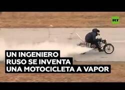 Enlace a Ingneiero rusa inventa la bicicleta a vapor