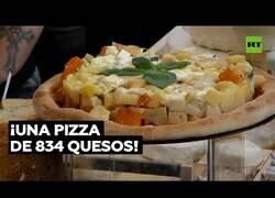Enlace a Crean la pizza con más tipos de quesos del mundo