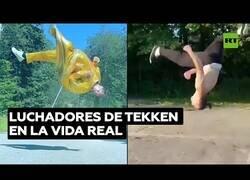 Enlace a Luchadores de Tekken en la vida real
