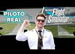 Enlace a Piloto de aviones real prueba el Flight Simulator