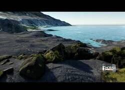 Enlace a Así será en el futuro la fajana creada por la lava en La Palma