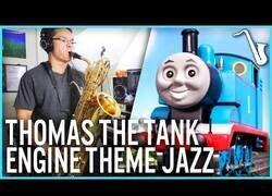 Enlace a Transformando el tema de Thomas y sus Amigos con un saxo