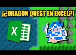 Enlace a Recrean el juego Dragon Quest en Excel