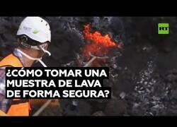 Enlace a Así se toma una muestra de lava de forma segura