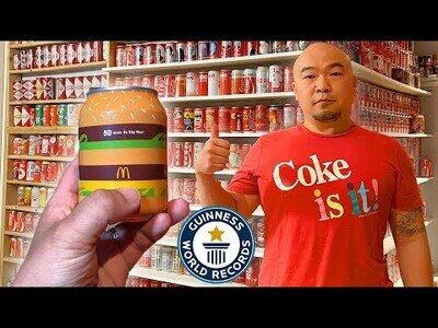 La mayor colección de latas de Cola del mundo