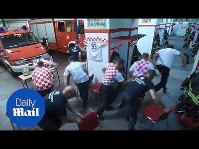 Bomberos croatas son llamados en pleno partido del mundial