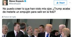 Enlace a Trump en el punto de mira después de meterle un empujón al Primer Ministro de Montenegro