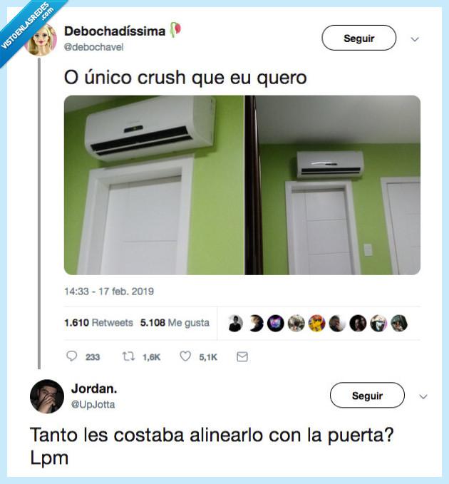 aire acondicionado,alinear,puerta