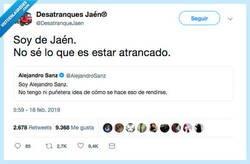 Enlace a Él no sabe de atranques, por @DesatranqueJaen
