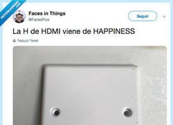 Enlace a Ser tan feliz como este HDMI, por @FacesPics