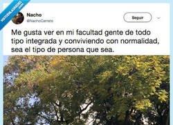 Enlace a Cada día te encuentras peña más rara en la Uni..., por @NachoCerrato
