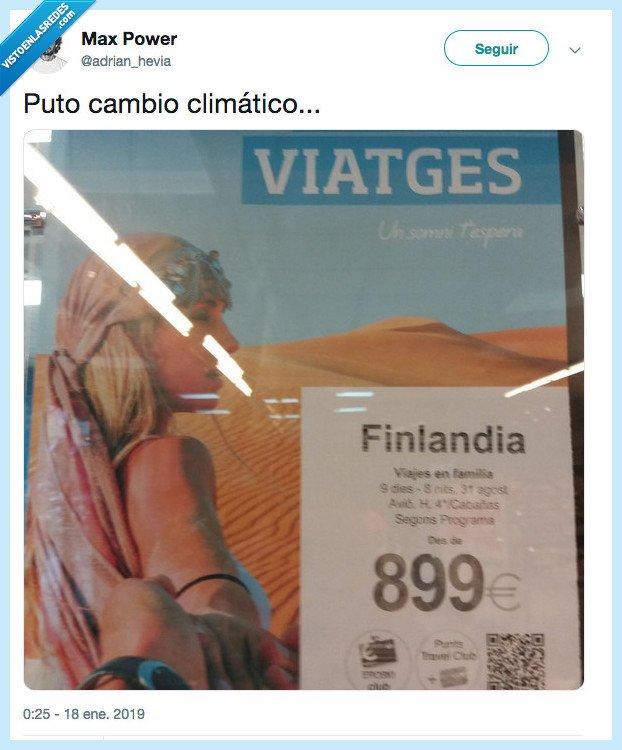 cambio climático,desierto,finlandia,viaje
