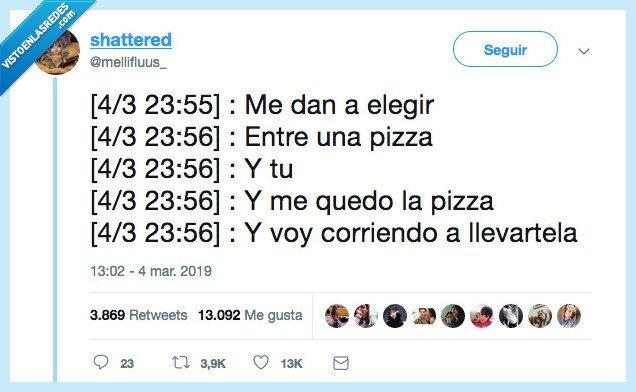 elegir,llevartela,pizza
