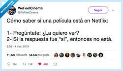 Enlace a No lleve a gusto de todos en Netflix, por @WeFeelCinema