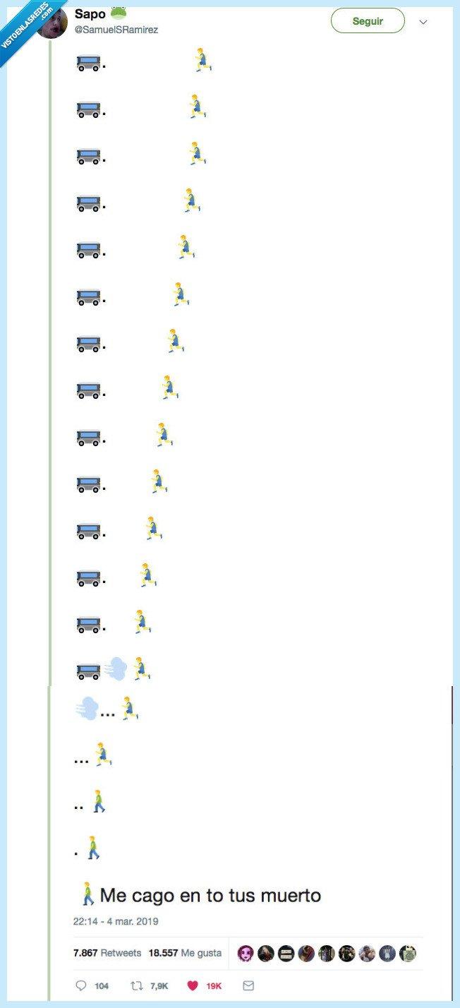 bus,emoji,perder