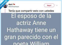 Enlace a Anne Hathaway está secretamente unida a William Shakespeare, por @AbrilPaezNazar