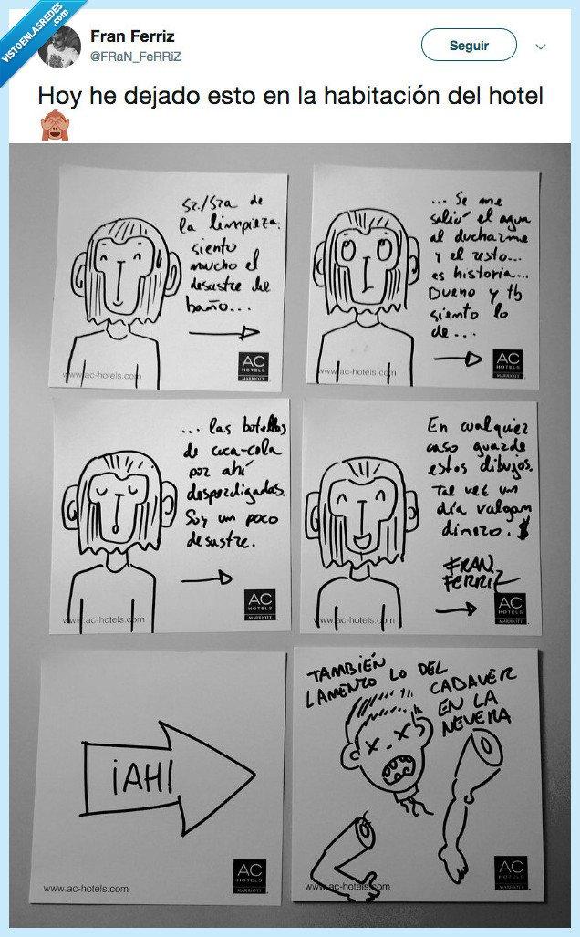 Vamos a Reirnos - Página 6 VEF_512368_a7a65cfa97d44ebfaaa623a4952b926a_twitter_franferriz_le_deja_unos_dibujos_de_regalo_a_las_limpiadores_del_hotel_y_esperamos_que_no_se_hayan_creido_el_final