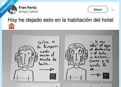 Enlace a @FRaN_FeRRiZ le deja un regalo a las limpiadoras del hotel y esperamos que no se hayan creído el final