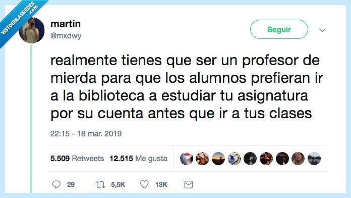 alumno,biblioteca,profesor