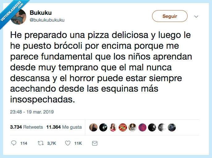brocoli,complicada,pizza