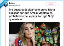 Enlace a ¿Es Amaia Montero la peor Tortuga Ninja del mundo? YO DIGO SÍ, por @seijuan_tenorio