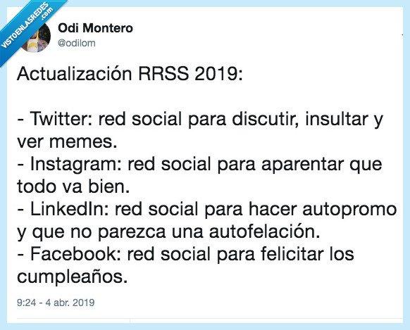 2019,facebook,instagram,linkedin,redes sociales,rrss,twitter