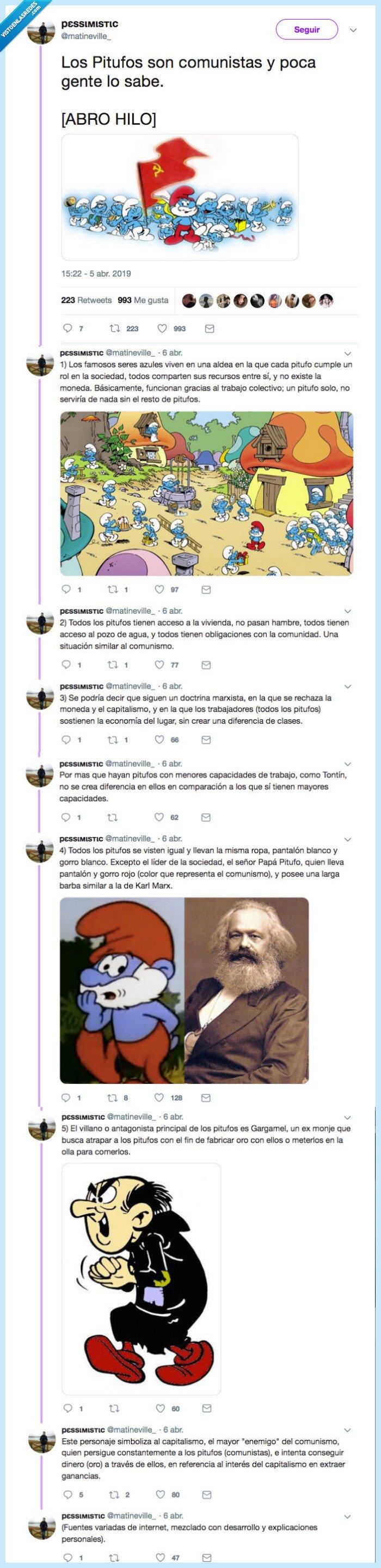 comunistas,gargamel,pitufos,rojos