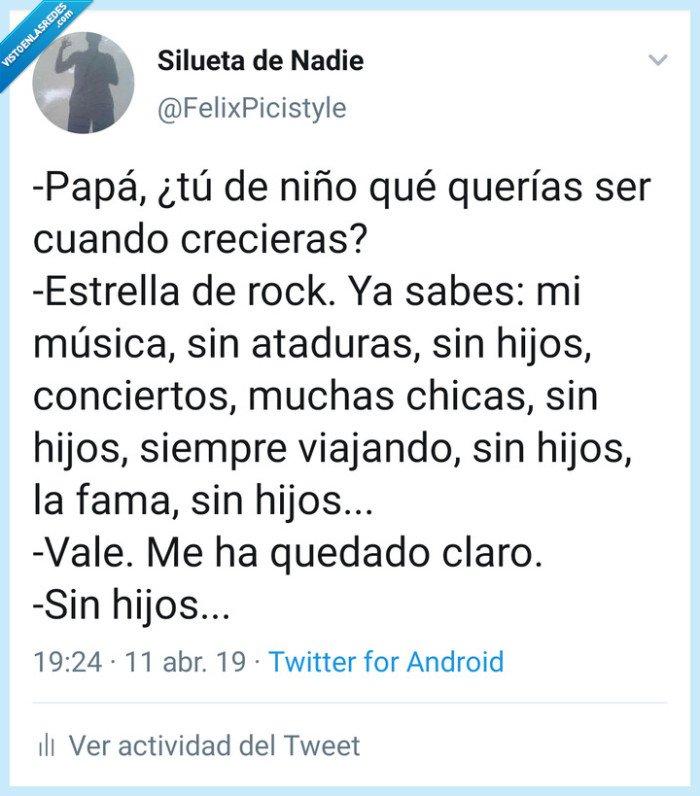 hijo,Papá,pregunta,rock